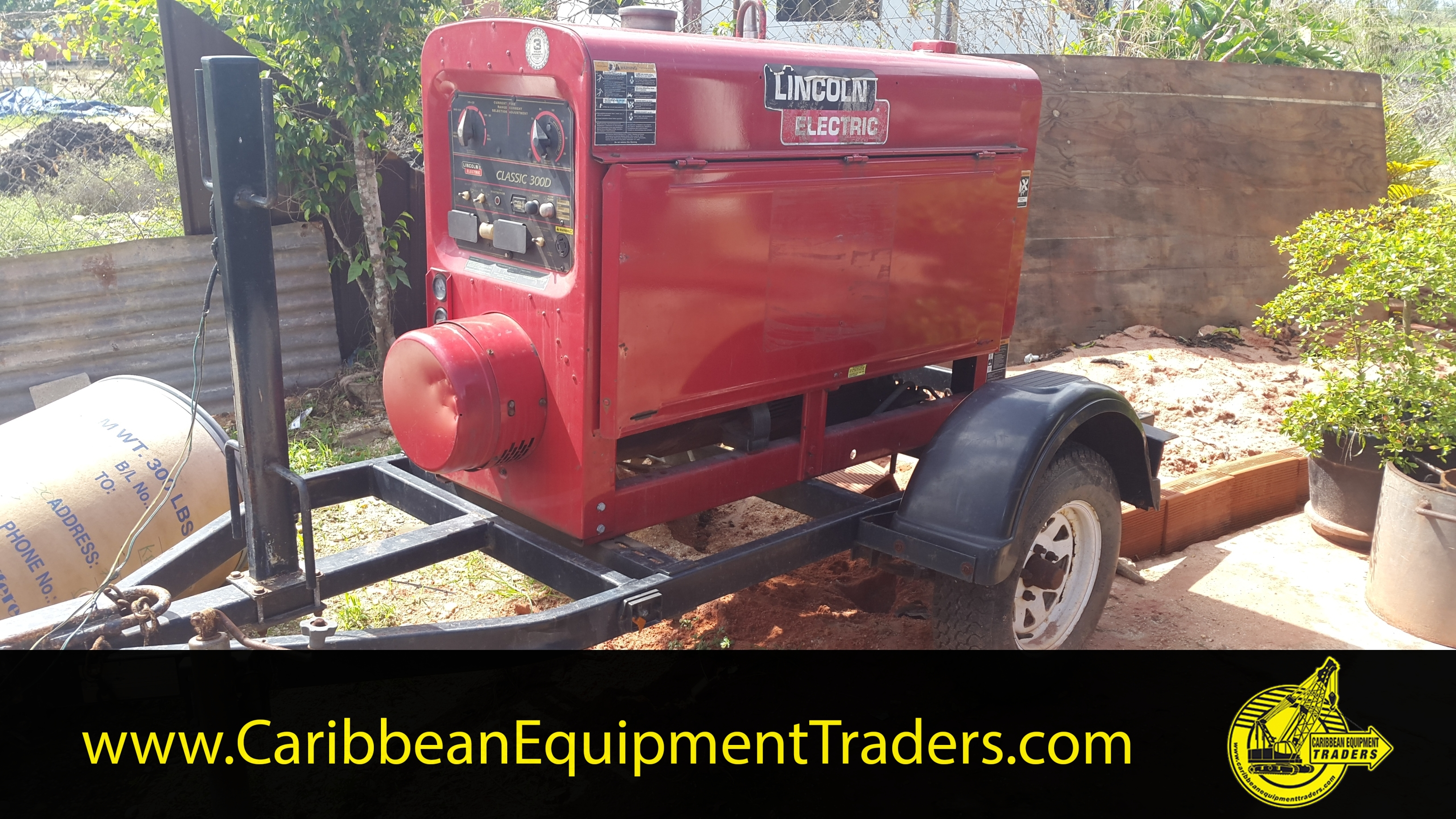 lincoln electric 300d generator welder trailer mounted